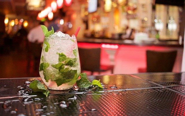 Mojito on a bar