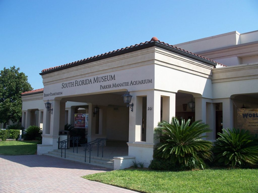 Entrance to the south florida museum